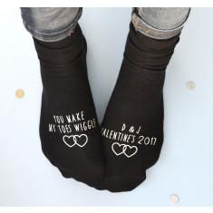You make my toes wiggle Valentine's socks