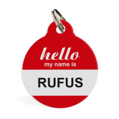 Personalised pet ID tag standard (hello)