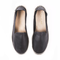 Black Copete Espadrilles Double Sole