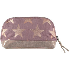 nooki design: una canvas and leather printed makeup bag