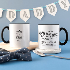 Personalised Daddy I Love You Because Message Mug