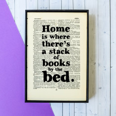 Housewarming Gift house quote  - book page print