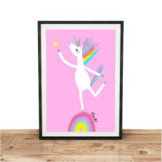 The Happy Unicorn Giclee print