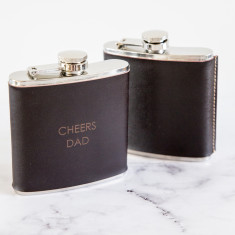 Leather And Stainless Steel Hip Flask
