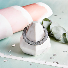 Shanghai Stars - Fatty Crystal Black Mesh Bracelet