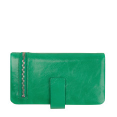 Esther leather wallet in Emerald
