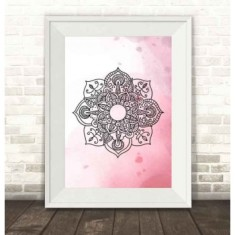 Mandala Watercolour Print