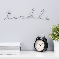 Tickle Wire Word Sign