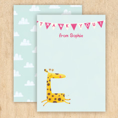 Personalised animal thank you cards (set of 8)