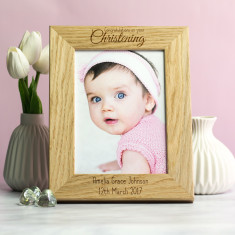Personalised Christening Photo Frame Gift