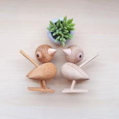 Danish Wooden Sparrow Pair