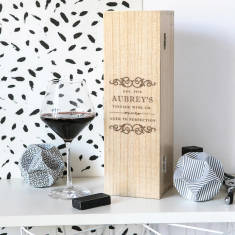 Personalised vintage style wine box
