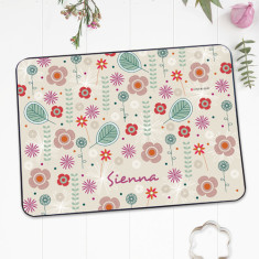 Flower power personalised placemat