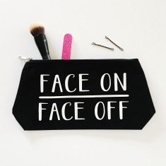 Face on face off makeup bag
