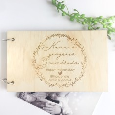 Personalised Wooden Photo Album for grandparents