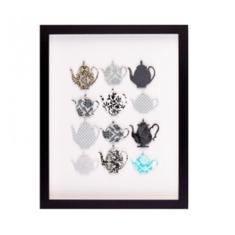 Couture cuts high tea framed artwork