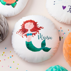 Personalised Mermaid Round Cushion