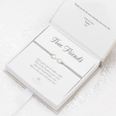Sterling silver infinity wish charm bracelet