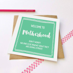 Motherhood greeting card