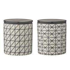 Set of 2 Ceramic Jars Julie