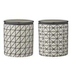 Set of 2 Ceramic Jars Julie