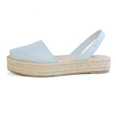 Pablo Leather Espadrille in Baby Blue