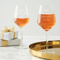 Personalised 'Vintage' Birthday Wine Glass