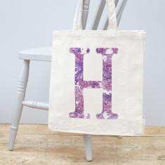 Personalised Initial Canvas Bag