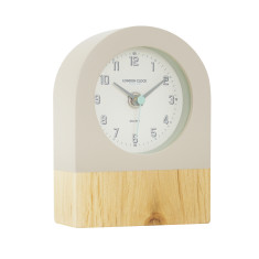 London Clock Company Tide Natural Wood & Dipped Mocha Silent Mantle Clock