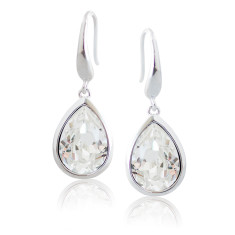 Classic Crystal Tear Drop Earrings