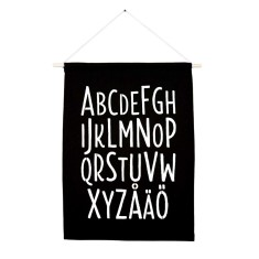 Swedish alphabet handmade wall banner