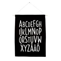 Swedish alphabet handmade wall banner