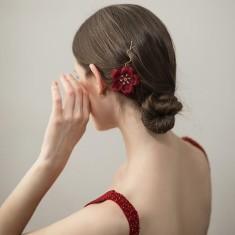 Fresh Flower Yarn Hairpin