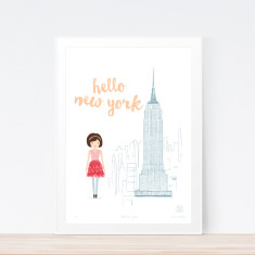 Hello new york art print