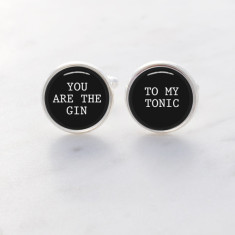 You are the gin to my tonic cufflinks