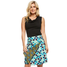 Chameleon reversible skirt Arctic & Shell blue