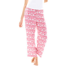 Hope Crop Pant In Bag Pink & White