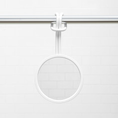 Umbra Flex shower mirror in white