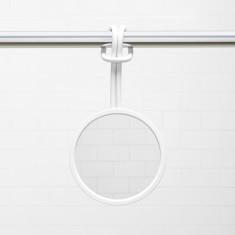 Umbra Flex shower mirror in white