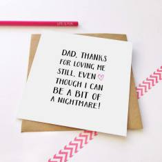 Thanks dad Father's Day greeting card