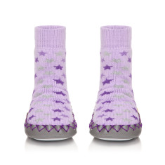 Baby's lilac twilight moccasin slippers