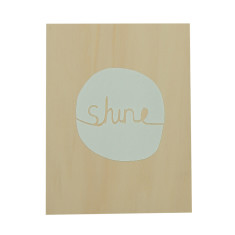 Shine plywood screenprint