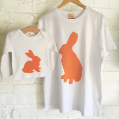 Buck Rabbit and Baby Bunny t-shirt twinset for dad & child