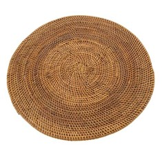 Round placemat in orange or brown