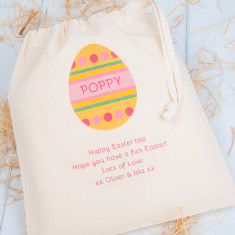 Personalised Easter Egg Gift Bag