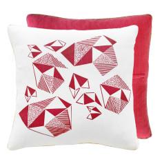 Fuchsia Pattern Play Throw Pillow
