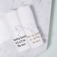Personalised New Baby Muslin Gift Set
