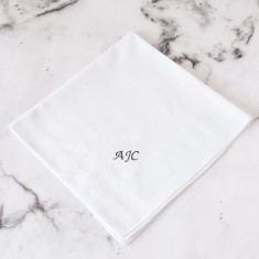 Personalised Embroidered Initial Handkerchief