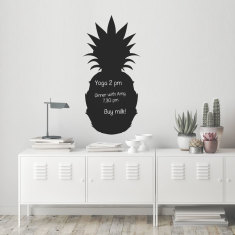 Reusable chalkboard pineapple wall decal