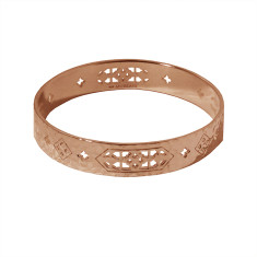 Jaipur Bangle in Rose Gold Plate